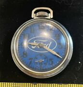 1953 53 Ford Mustang Shelby Cobra Tbird Pocket Watch Clock Vintage Accessory Old