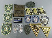 Lot Of 18 Police Patches Nyc, Nj, Fl, Mo, Ca. Sew On / Iron On / Other Multiple