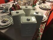 Disney 1928 Mickey Mouse 4 Pc. Kitchen Canister Set Collectibles