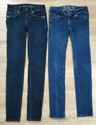 American Eagle Womens Jeans Size 00 Lot Of 2 Skinny Blue