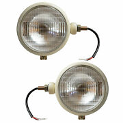 Ivory Headlamp Set With 12v Bulbs Suitable For Ford Tractor 2n 600 80 8n 9n