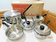 1991 New Old Stock Saladmaster T304s Surgical Stainless Waterless Cookware