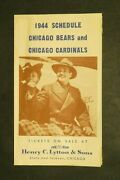 Chicago Bears And Chicago Cardinals 1944 Football Schedule