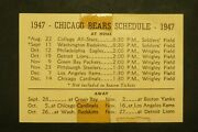 Chicago Bears 1947 Football Schedule
