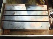 29.75 X 18.25 X 2.75 Tall Steel T-slotted Table Layout Welding Weld 3 T-slot