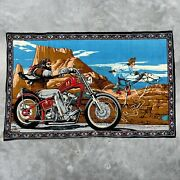 Vintage David Mann Ghost Rider Tapestry Wall Hanging Print Poster Flag 35andrdquox54andrdquo