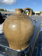 Dave Drake Attributed One Gallon Jug Edgefield Pottery Restored Handle