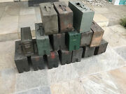 Wwi Us Military Army Gear 30 Cal Wood Ammo Can Box - Lot Of 15 + 1