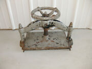 Vintage Large Antique Cast Iron Book Press 10 X 15 Very Heavy Works Great Rare