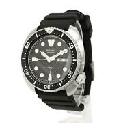 Used Seiko Watch Menand039s Automatic Dial Diver Vintage 150m Stainless Steel Black