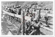 Wwi 89th Division Members Making Barbed Wire Entanglements Silver Halide Photo