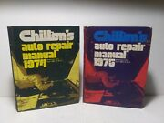 2 Book Lot Chiltons 1967-1974 And 1968-1975 American Cars Auto Repair Manuals