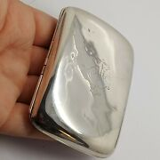 Solid Sterling Silver 925 Bz217-89 Cigarette Case 1933 Cands Co Ld Antique Wow .