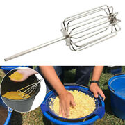 Sturdy Groundbait Mixer Mixing Carp Lures Pellets Stainless Steel Whisk Accs
