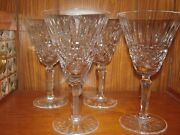 Set Of 8 Waterford Maeve Water Goblets Lead Crystal Old Gothic Watermark