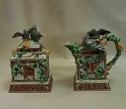 Fitz And Floyd 12 Days Of Christmas Four Colly Birds Sugar And Creamer