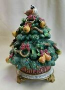 Fitz And Floyd 12 Days Of Christmas Five Golden Rings Lidded Box