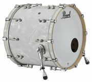 Pearl Music City Custom Reference Pure 22x18 Bass Drum W/ Mount White Satin Moir