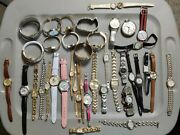 8 1/2 Lb Watch Lot- Parts Or Repair Fossil Timex Bulova Relic Guess And More