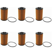6 Pcs Engine Oil Filter Kits A0001803009 For Mercedes C63 Cls63 E63 M63 S63 Amg