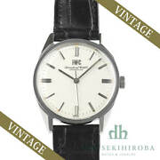 Used Watch Manual Vintage Menand039s Schaffhausen Stainless Steel Silver Mens A