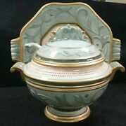 Fitz And Floyd Clairmont Soup Tureen And Platter