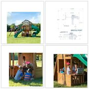Bristol Point Cedar Swing Set/playset Simple Two-person Assembly Quick Sale