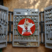 Vintage 1902 Texaco Fire Chief Gasoline Fuel Porcelain Gas And Oil Pump Sign