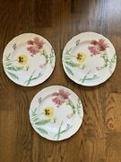 Williams Sonoma By Spode England English Floral 9 Plates 2006 1