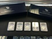 2011 American Silver Eagle 25th Anniversary Coin Set Ms70 Pf70 Ngc Graded P W S