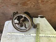 Antique Hand Crank Champion Blower And Forge Blacksmith Post Drill Press Parts