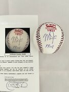 Los Angeles Angels Mike Trout Signed Inscribed Oml All Star Game Baseball Jsa