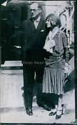 Vintage Middle Age Man Stands With Pretty Woman Wearing Hat People Photo 6x8