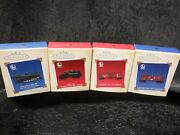 New In Boxes Set Of 4 Hallmark Keepsake Ornaments 2005 Lionel Cars Trains