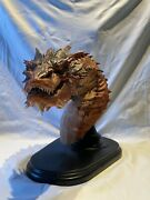 Smaug Weta Dragon Bust Fantasy Figurine Lord Of The Rings Hobbit Tolkienandnbsp