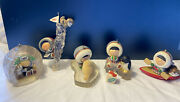 Vintage Hallmark Frosty Friends Lot Of 9 Ornaments 1981-1989 Free Shipping