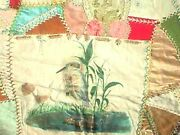 Vintage Antique Quilt Silk Ioof Freeport Pa Usa Flag 1896 Veterans 6 Pointed Sta