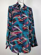 Lane Bryant Womens Shirt Size 14/16 Button Front Long Sleeve Relaxed Casual