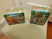 Vintage Churchill's Adam And Eve And Noah's Ark Candy Tins Euc
