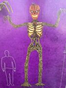 12-ft Inferno Pumpkin Skeleton With Animated Lcd Lifeeyes In Hand Ships Asap