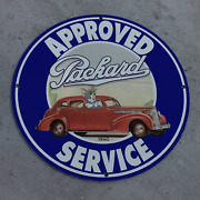 Vintage 1940 Packard Approved Service And039tom And Jerryand039 Porcelain Gas And Oil Sign