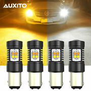 4x Auxito White Yellow 1157 Led Turn Signal Parking Drl Light Bulb Switchback Us