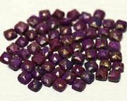 Natural Purple Copper Turquoise Cushion Rose Cut Loose Gemstone 21m To 25mm