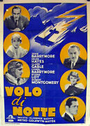 Night Flight / Clark Gable / 1933 / Clarence Brown / Movie Poster/32