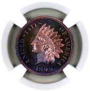 1908 Pf66 Rb Ngc Indian Head Penny Proof Example Superb Eye-appeal