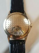 Vintage Elgin 1950and039s Jump Hour Golf Ball Wrist Watch