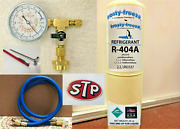R404a R-404a Refrigerant 28 Oz Disposable Can Charge It Gauge Kit Stp Decal