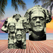 New Frankenstein On Dictionary Abstract 3d Hawaii Shirt Aloha Us Size Best Price