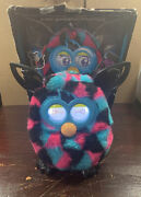 Furby Boom Black Pink Blue Triangle - Tested And Working Missing Cover See