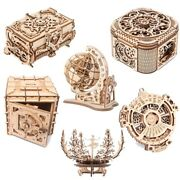 Wooden 3d Assembled Creative Diy Puzzle Mechanical Transmission Antique Toy New